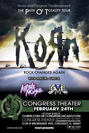 Korn -- Chicago, IL -- Feb. 24th, 2012