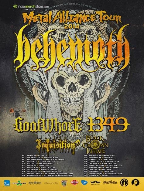 Metal Alliance Tour - Chicago, IL - April 25th, 2014